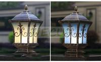 antique fence - decorative lamp IP65 bronze antique brass landscape vintage classical outdoor waterproof fencing bollard pillar light lamp WCS OCL0011