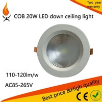 Cheap Free shipping 20w COB Spot light Ceiling Panel Recessed Cabinet Lamp Light Cool Warm White Home Indoor Lighting 10pcs lot