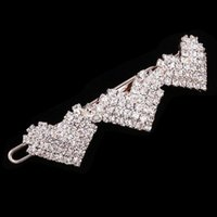 asian bridals - New Fashion Full Rhinestone Three Heart Hairpins Crystal Hair Clips Bridals Barrettes For Wedding Women DHF284