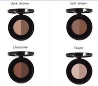 Wholesale ABH Brow Powder Duo Eyebrow Powder Full Size colors dark brown soft brown chocolate Taupe Colors In Palette