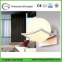 Wholesale 2016 Modern led wall lamps glass ball wall lights for home indoor lighting E27 AC85 V Warm White cold White