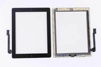 Wholesale For iPad Touch Screen Digitizer Replacements with home butoon with adhesive For