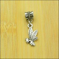 bee jewellry - bee Style Big Hole Loose Space Beads Charms Antique Silver Pendants for DIY Bracelet Necklace Jewelry women jewellry DK035
