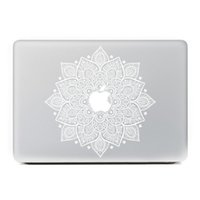 Wholesale White Leaves Removable Vinyl Decal Laptop Skin Sticker for Apple Macbook Air Pro Retina Inch Laptop Skins