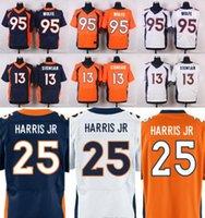 Wholesale 2016 Elite Mens Jerseys Stitched Name Number Trevor Siemian Chris Harris Jr Derek Wolfe Free Drop Shipping