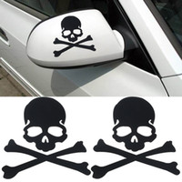 Wholesale 1Pair Hot Selling Skull Design PVC D Decoration Sticker For Car Side Mirror Rearview Truck Sticker order lt no track