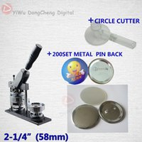 badge circle cutter - High Quality quot mm Badge Button Maker Machine Circle Cutter Sets Metal Pinback Supplies