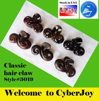 Wholesale STOCK in USA US BROADWAY CLASSIC LARGE MIMC ACETATE Hairpin Clip Bow Clamp Hair claw multi color Frosted and shinning effect