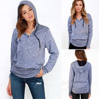 western clothing - Hoodies Western Pop Blue S XL O Neck Women Blouse Pullover Long Sleeve Single Breasted Women s Clothing