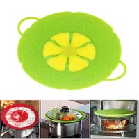 Wholesale 2016 Flower Petal Boil Spill Stopper Silicone Lid Pot Lid Cover Cooking Pot Lids Utensil Pan Cookware Parts Kitchen Accessories