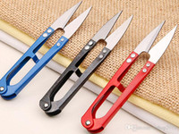 Wholesale 2015 New Arrvial V Shaped Cutter Scissors Hand Made Tool with Sharp Edge for Cross Stitch Embroidery Sewing Tool Snips Thrum Thread Nippers