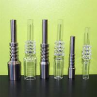 Wholesale 10 mm Gr2 Domeless Titanium Nectar Collector Nail Titanium Nails for Nector Collector Kits Sets Ti Tips Honey Straw DHL Free