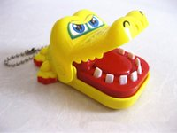Wholesale HO House Keeping Creative Chidlren Kid Crocodile Mouth Dentist Bite Finger Game Funny Gags Toy Colors Random