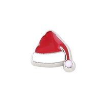 Wholesale 20pcs Christmas Hat Charms For Floating Locket Charms