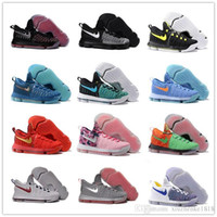 Wholesale Cheapest Low Cut Basketball Shoes - 2016 New Kevin Durant Basketball Shoes Kid Women Men 100%Original Retro KD 9 EP IX Rio Red White Sport Boots Cheap Sneakers