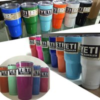 beer sales - Hot Sale oz oz color YETI Cups Stainless Steel Insulation Cup Cars Beer Mug Large Capacity Mug Tumblerful