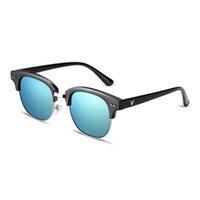 Wholesale Vintage Semi Rimless Women s Sunglasses Sports Outdoor Optic UV Protection Sunglasses Eyeglasses with Box YJMH042