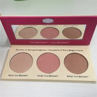 best highlighters - Newest Lady the Manizer Sisters Cindy lou Mary Lou Betty Lou color Bronzers Highlighters palette best quality