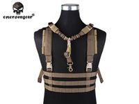 Wholesale MOLLE System Chest Rig Low Profile Tactical Assault Equipment Airsoft Paintball EMERSON Combat Vest Coyote Brown