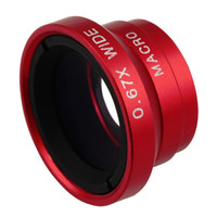 Wholesale Angle Macro Camera X Wide Lens for Mobile Phones for iPhone and Tablets red