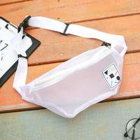 Wholesale High Quality Mesh Waist Bag For Girl Women Mini Size One Strap Fashion Cute Shoulder Bag Casual Bag