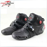 Wholesale new probiker motorcycle boots Microfiber leather waterproof motocross men racing boots SIZE