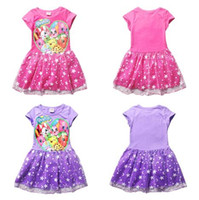 Wholesale 2016 Girls Dresses Shop Fruits Family Tutu Princess Dresses Shop World Kids Short Sleeve Summer Party Dresses Kids Clothes Colors