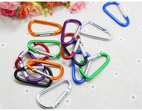 Cheap Hot Sale New 4.5CM D Size Carabiner Durable Climbing Hook Aluminum Camping Outdoorsport Accessory jy525