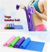 Wholesale yoga Pilates Stretch Resistance Band Exercise Fitness Training yoga tension belt Elastic Stretch Band MM