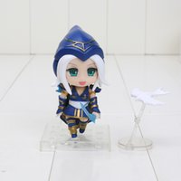 Wholesale Anime The Frost Archer figure Ashe Q Version PVC GK face changeable Action Figures Toys Model approx cm
