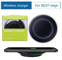 Wholesale Universal Qi Wireless Charger Charging For iphoen Samsung Note Galaxy S6 s7 Edge mobile pad with usb cable
