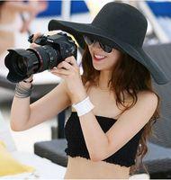 Wholesale Hot sale fashion folding empty sun hat for women sun caps summer beach straw hats multicolor Beach Cap