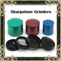 alloy magnets - Authentic SharpStone Grinders Zinc Alloy Tobacco herbal Grinder Pieces Cigar herb Spice Crusher Machine Magnet Strainer mm mm mm