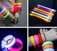 Wholesale 6 color KKA149 Glowing LED Wrist Band Lights Flash Nylon Cuff Bracelet Cycling Running Gear Nylon Cycling Running Bike Cuff Bracelet