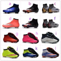 Wholesale 2016 Mercurial Superfly FG CR7 Shoes Kid Women Men Soccer Boots Cleats Laser Children Soccer Shoes Football Shoes