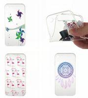 apple ii plus - Transparent Flower TPU Soft Case For Iphone Plus I7 S SE S Huawei P8 P9 Lite Y3 Y5 Y6 II Cartoon Elephant Butterfly Kiss Dog Cover