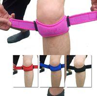 Wholesale Adjustable Knee Patellar Tendon Support Protector Brace Strap Band Knee Pads Pad Elastic Knee Support Brace Pads Kneepad Protector KKA557