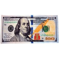 Wholesale One Hundred Dollar Bill Velour Beach Towel Large quot x60 quot Quality Printing