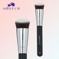 1000 angle blush brush - Make up cat Professional Cosmetic Powder Foundation Brush Blush Angled Flat Top Base Liquid Cosmetic Makeup Brush Tool B02