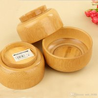 Wholesale factory selling Children s tableware baby bowl bamboo bowl natural qualities of wood bowl Japanese soup bowls Variety Specials