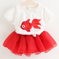 b t shirt - 2 Set Bala_bala Children Short Sleeve T shirt Skirt Child Girl Gazue Outfits Fashion Kids Girl s Suit Sets B