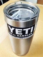 Wholesale 2016 New arrival YETI COOLERS OZ STAINLESS STEEL RAMBLER TUMBLER CUP COFFE MUG W LID very popular
