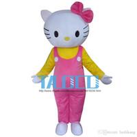 Wholesale 2016 Hello Kitty Cute Fancy Dress Mascot Costume Cartoon Character Adult