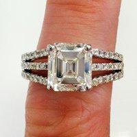 asscher wedding rings - 4 GIA Certified Asscher Cut I VVS2 Diamond Engagement Wedding Ring k