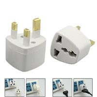 ac adapte - 3PIN PIN US EU to UK AC Power Plug GB Travel Converter Adapte White United Kindom