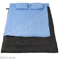 Wholesale Huge Person Double Sleeping Bag F C Camping Hiking quot x60 quot Pillows New