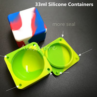 square jar - Nonstick Wax Containers Silicone Box ml Silicon Container Big Square Food Grade Wax Jars Dab Dabber Tool Large Jar Oil Holder for Vape