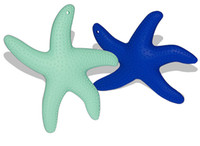baby teether feeder - Silicone Starfish Baby Teether Feeder Baby Teething Toy Necklace Pendant Safe Silicone Baby Chewing Beads Nursing Pendant
