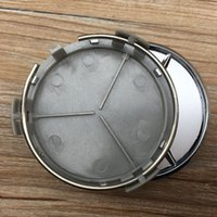 alloy wheels for cars - 100pcs mm silver Car Wheel Center Caps Emblem Wheel center Cover Hub Wheel Trim Cap Hubcap Badges For Mercede s car styling