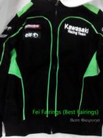 Wholesale Racing Team automobile race clothing outerwear motorcycle cotton casual sweatshirt Kawasaki